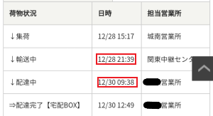 UQモバイルの時間指定で届くまでに時間がかかった?